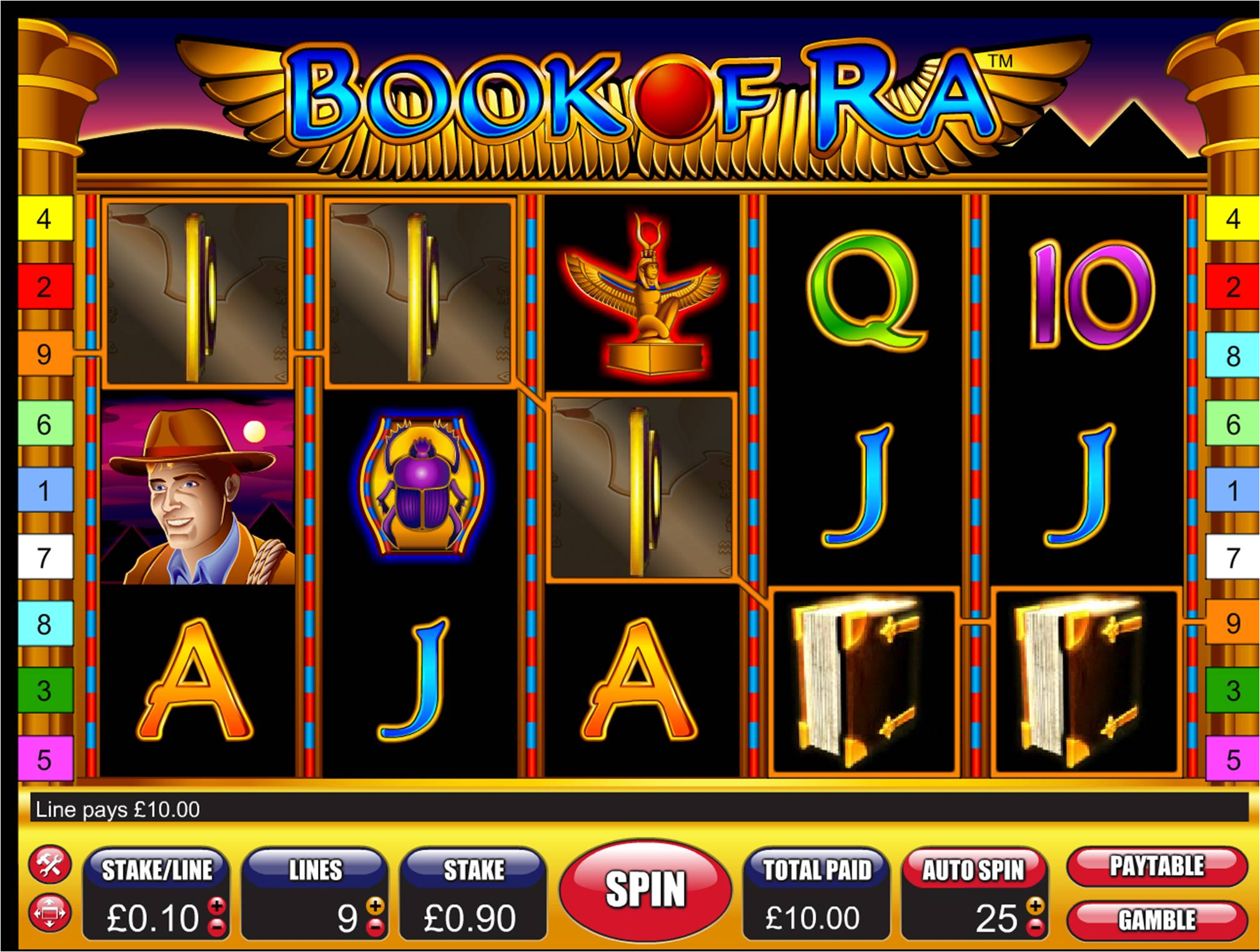 online play casino boock of ra